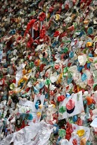 The infamous gum wall down Post Alley...it smelled interesting...