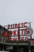 Pike Place Public Market. We got here early to beat the crowd!