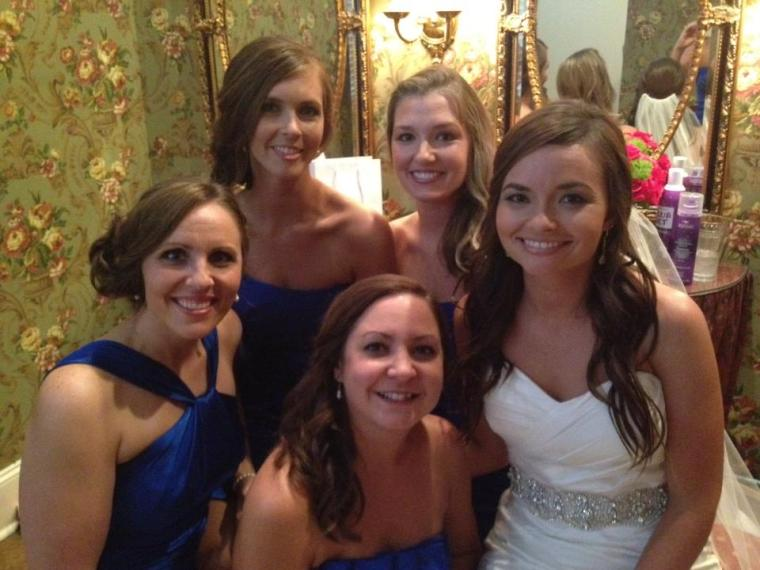 There were many more bridesmaids than this, but these girls have been friends since high school, and some even earlier! They take a picture in the same position as one they have from high school. This is their 15 year picture!!! How sweet!