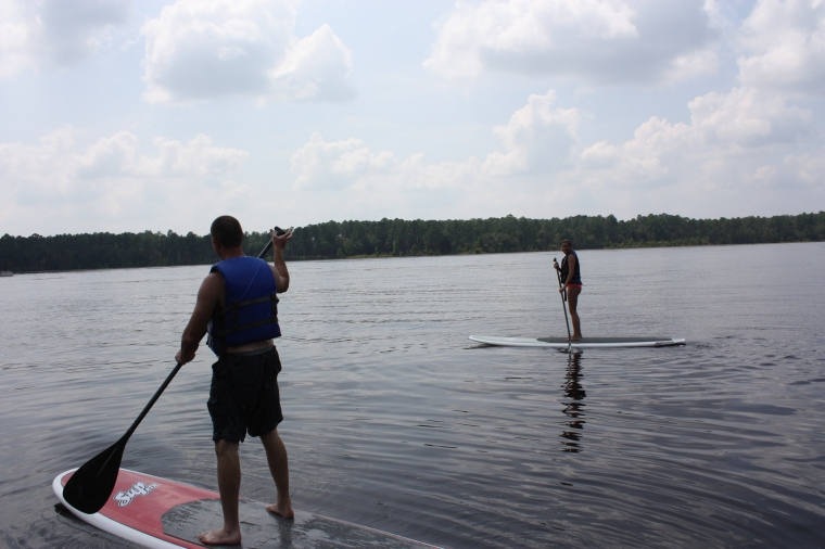 Trey and Kristen on the paddle boards!
