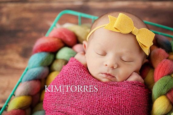 Inspired By Zoelle https://www.etsy.com/listing/129022036/wool-felt-bow-newborn-headband-newborn?ref=col_view