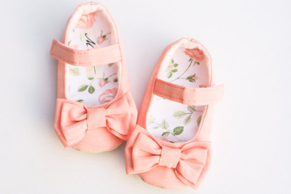 Mart Baby Accessories https://www.etsy.com/listing/153601565/coral-baby-girl-shoes-taffeta-weding?ref=col_view