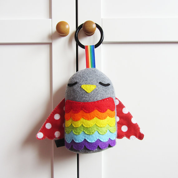 Made By Eden Grace https://www.etsy.com/listing/129751836/baby-toy-rainbow-hanging-plush-bird-toy?ref=related-1