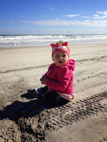 Addie LOVED The Beach!